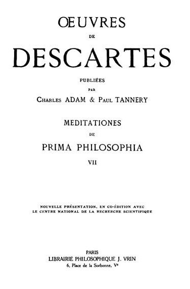 Descartes, Meditationes