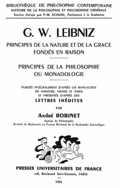 Leibniz, Monadologie