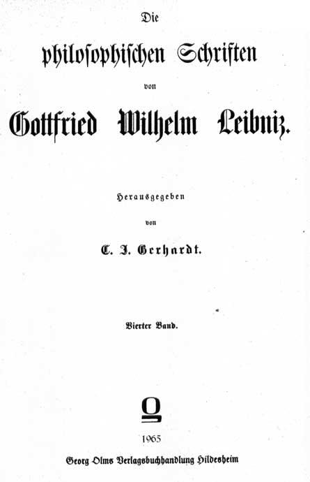 Leibniz, De prima philosophia emendatione
