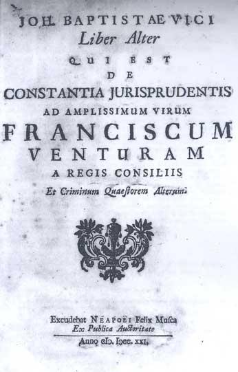 Vico, De constantia
